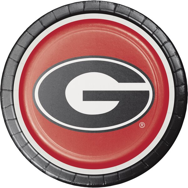 University of Georgia Paper Dinner Plate (Set of 24) by Creative Converting