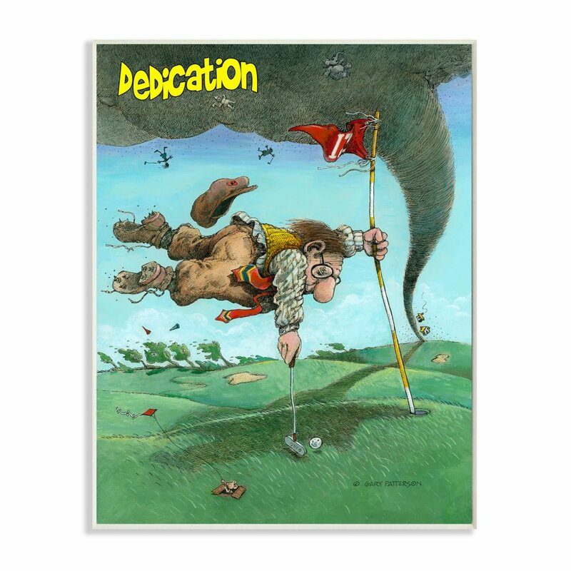 Red Barrel Studio Dedication Funny Golf Cartoon Sports Design By Gary Patterson Drawing Print Wayfair