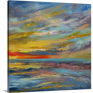 Abstract Seascape by Michael Creese Graphic Art on Canvas by Canvas On Demand