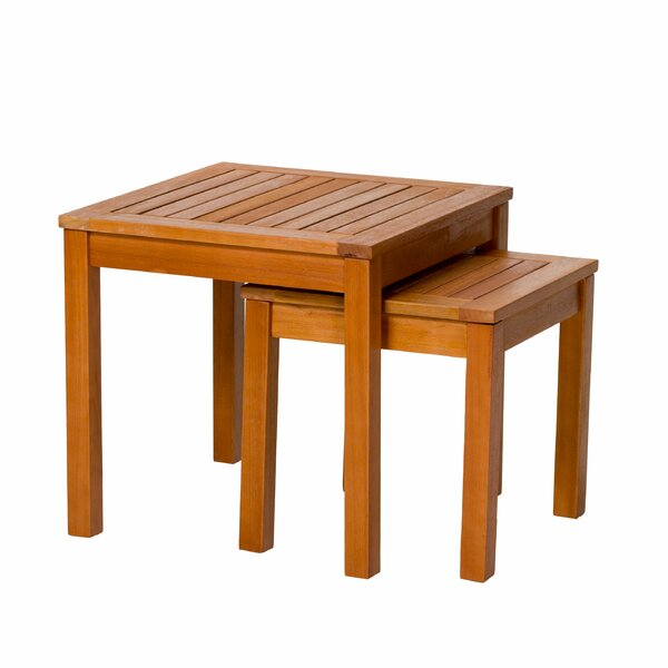 Hazeltine Eucalyptus Outdoor 2 Piece Side Table Set by Bay Isle Home