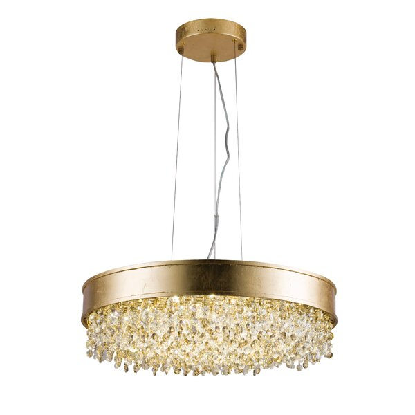 Boone 16-Light LED Unique / Statement Drum Chandelier By Everly Quinn