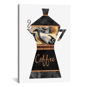 Coffee Graphic Art on Wrapped Canvas by Mercer41