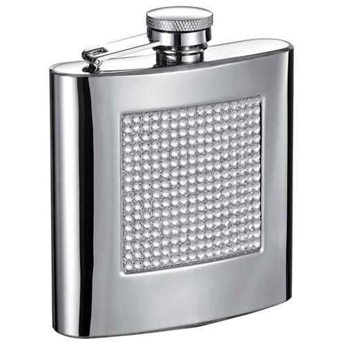 Vierkant Bling Hip Flask with Rhinestones by Visol Products