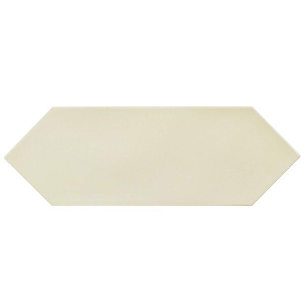 Volant 4 x 11.75 Porcelain Field Tile in Cream by EliteTile