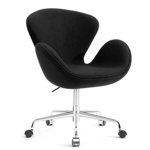 Joann Mid-Century Modern Living Room Upholstered Swivel Lounge Chair by Orren Ellis Orren Ellis