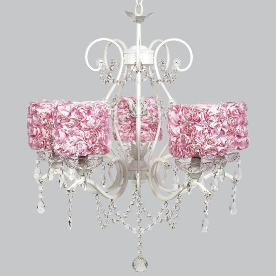 Grace 5-Light Shaded Chandelier by Jubilee Collection