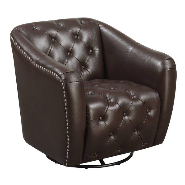 Groveport Swivel Barrel Chair by Alcott Hill