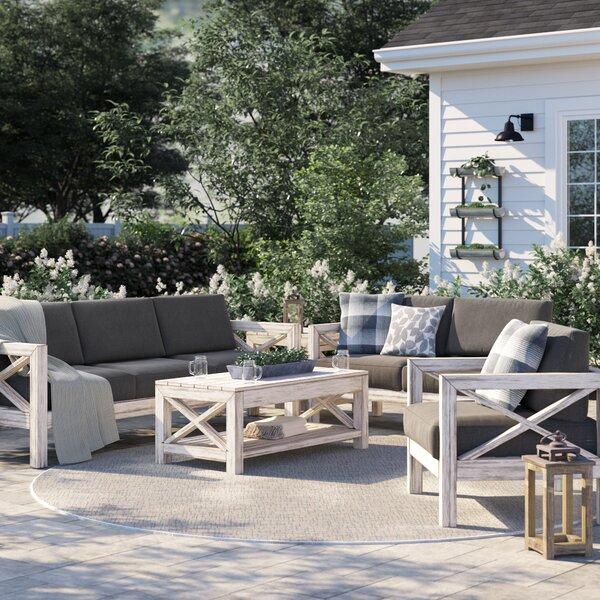 Parkdale 5 Piece Sofa Set with Sunbrella Cushions by Greyleigh