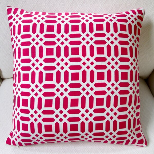 Vivid Lattice Indoor Cotton Throw Pillow by Artisan Pillows
