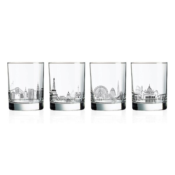Dineen 4-Piece 13.25 oz. Glass Cocktail Glasses Set (Set of 4) by Ebern Designs