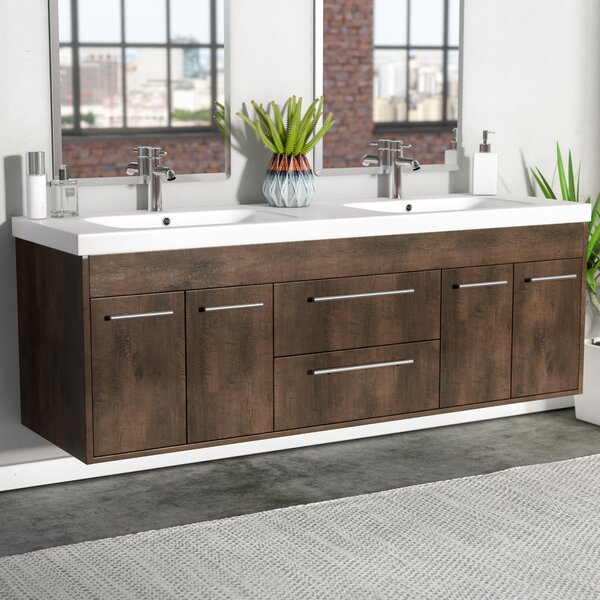 Zuzanna 60 Modern Double Bathroom Vanity Set by Orren Ellis