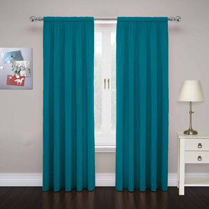 Abdera Solid Sheer Rod Pocket Curtain Panels (Set of 2)