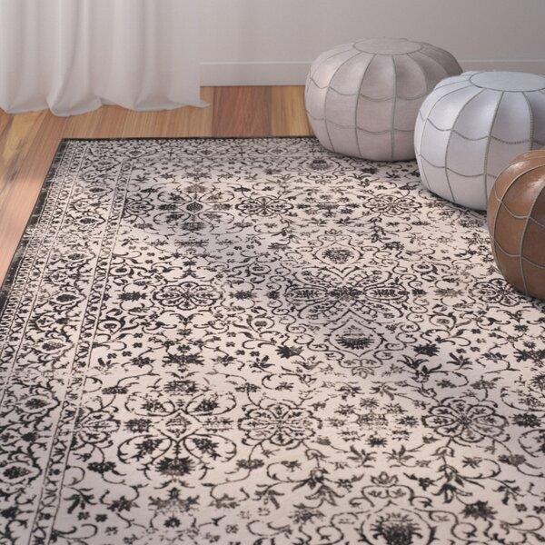 Hartville Wool Creme/Black Area Rug by Greyleigh