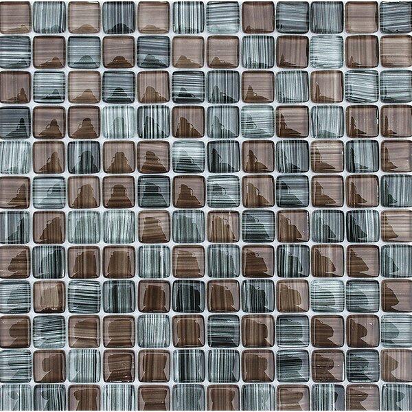 Cayucos 1 x 1 Glass Mosaic Tile by Parvatile