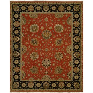 Forbesganj Hand-Knotted Rust/Black Area Rug ByMeridian Rugmakers