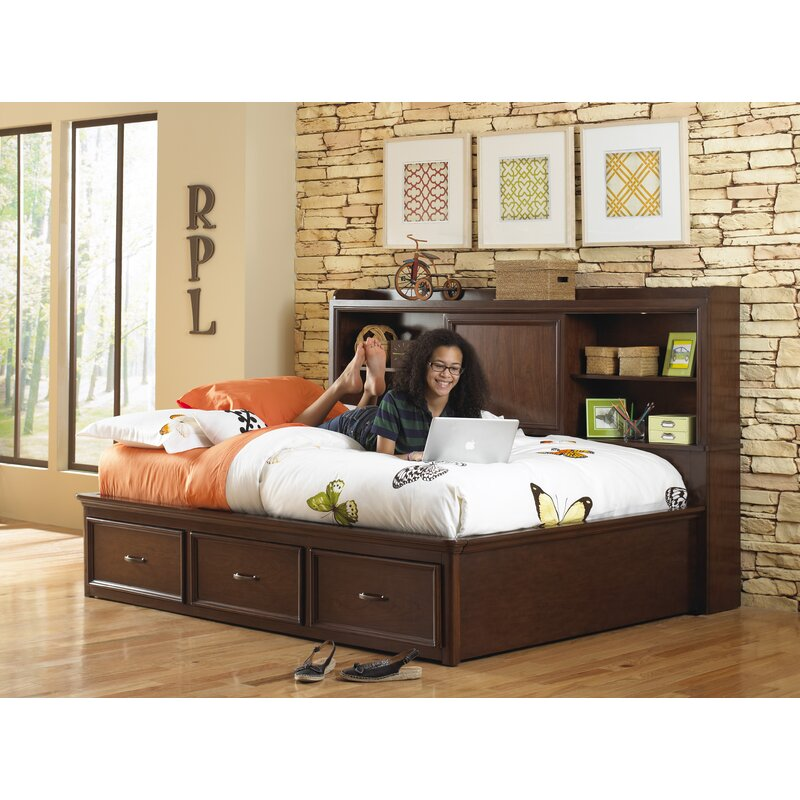 double size bed h com with platform slp x d w full amazon drawer espresso storage drawers