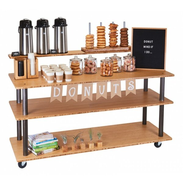 Kitchen Cart with Wood Top by Cal-Mil