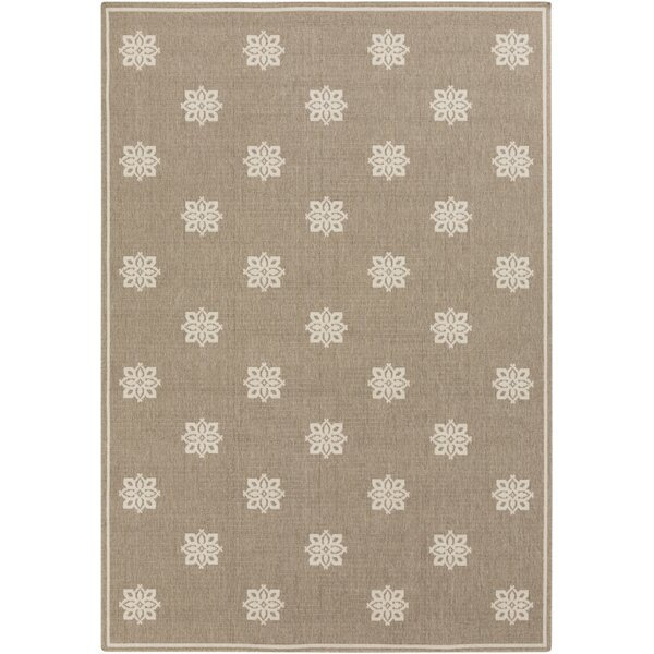 Pearce Beige/Taupe Damask Area Rug by Charlton Home
