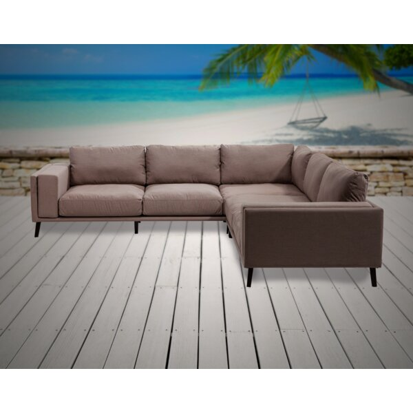 Birchfield 2 Piece Sunbrella Sectional Seating Group with Sunbrella Cushions by Corrigan Studio