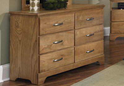 Sterling 6 Drawer Double Dresser by Carolina Furniture Works Inc.