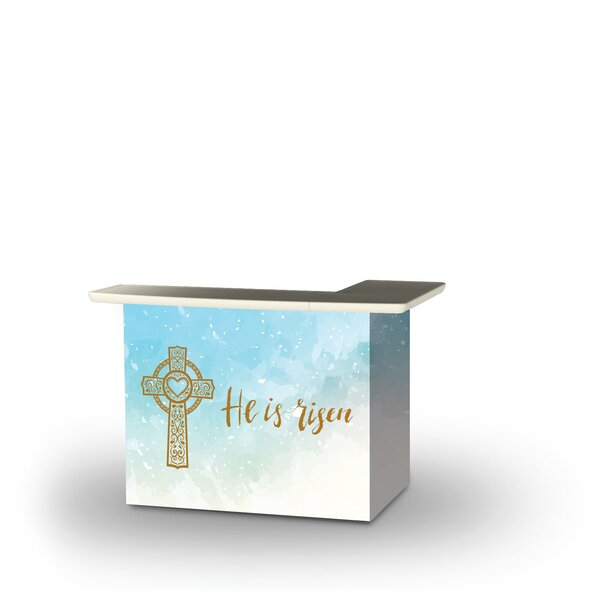 Ziemer Easter He Is Risen Home Bar by East Urban Home East Urban Home