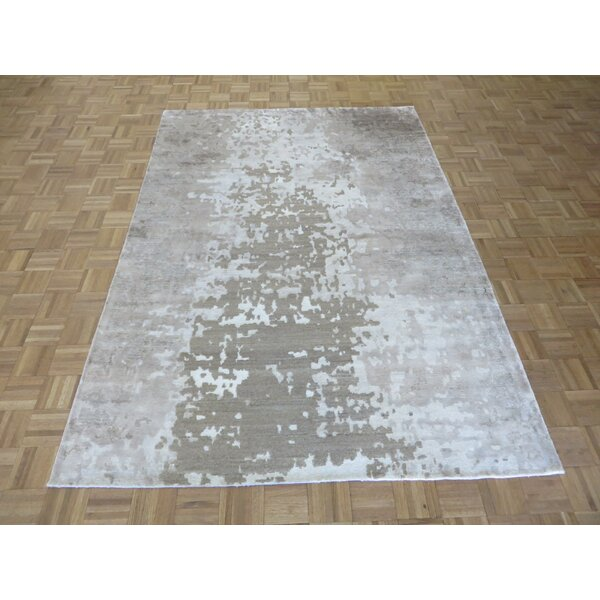One-of-a-Kind Padang Sidempuan Modern Hand-Knotted Brown/Gray Area Rug by Bloomsbury Market