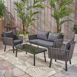 Grandmasters 5 Piece Wicker Sofa Seating Group with Cushion By Ivy Bronx
