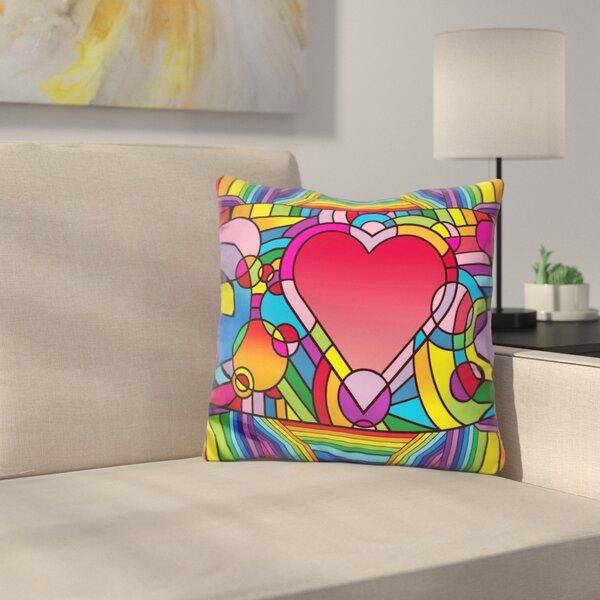 Love Music Throw Pillow by East Urban Home