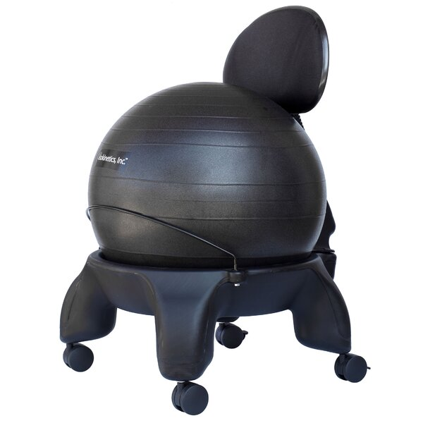 Tall Boy High-Back Exercise Ball Chair by Isokinetics