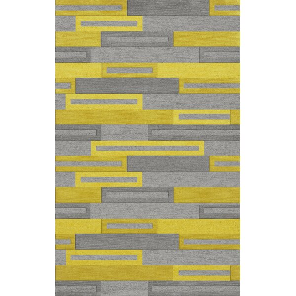 Bella Machine Woven Wool Gray/Yellow Area Rug by Dalyn Rug Co.