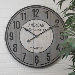 Review Oversized Farmhouse Wooden 36 Wall Clock by American Mercantile