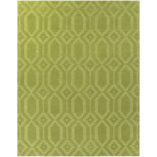 Brack Hand-Loomed Green Area Rug by Wrought Studio