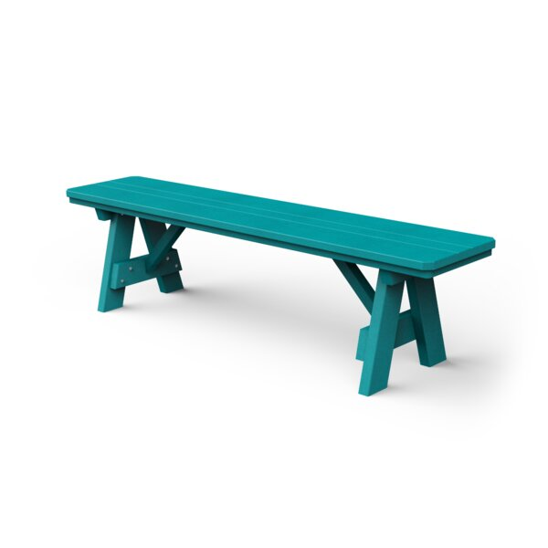 Plastic Garden Bench by YardCraft