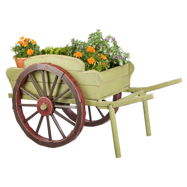 Evergreen Flag Amp Garden Wood Wheelbarrow Planter Amp Reviews