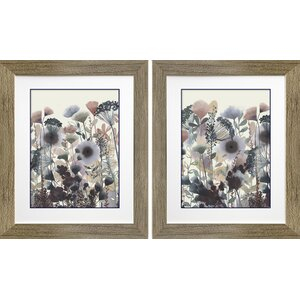 Twilight Blossoms I & II by Grace Popp 2 Piece Framed Painting Print Set by Star Creations
