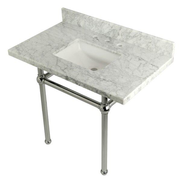 Carrara Marble 36 Single Bathroom Vanity Set by Kingston Brass
