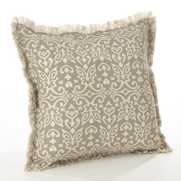 Naxos Geo Cotton Throw Pillow by Saro