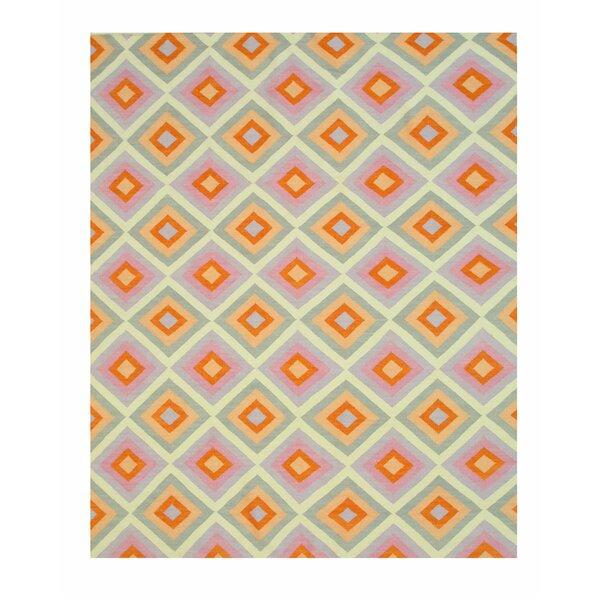 Hollie Handmade Orange/Gray Area Rug by Eastern Rugs