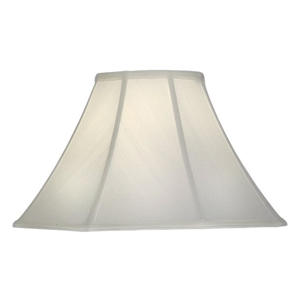 11.5 H Silk/Shantung Bell Lamp Shade ( Spider ) in Off White