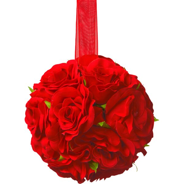 Valentine Rose Ball (Set of 4) by National Tree Co.