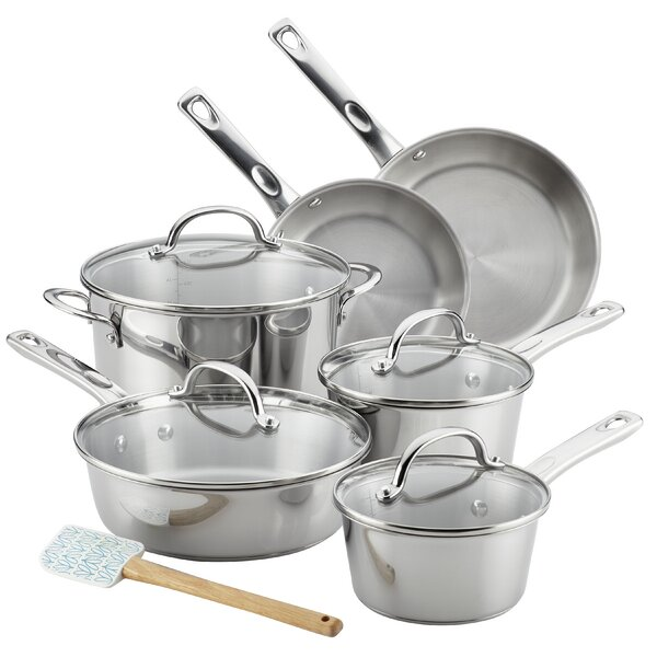 Stainless Steel Cookware Set (Set of 11) by Ayesha Curry