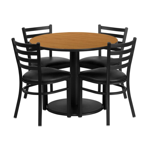 Louise Round 5 Piece Bar Height Dining Set by Winston Porter Winston Porter
