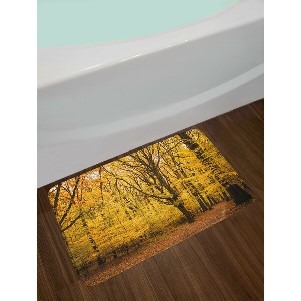 Fall Epic View Deep Down in the Forest Bath Rug by East Urban Home