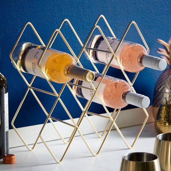 Storage Shelves Holder 8 Bottle Tabletop Wine Rack by VonShef