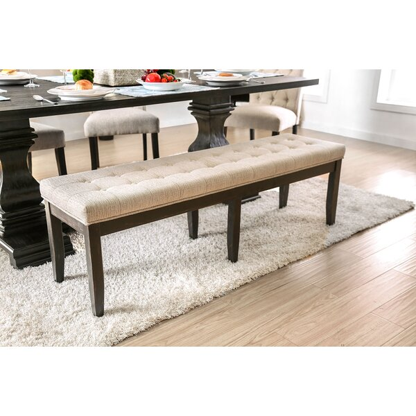 Jovani Upholstered Bench by Alcott Hill