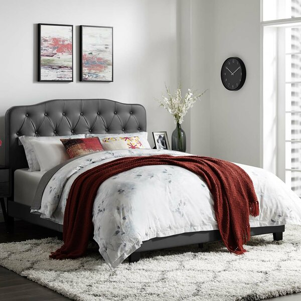 Crum Upholstered Panel Bed by Alcott Hill
