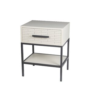 Britney 1 Drawer End Table by Latitude Run