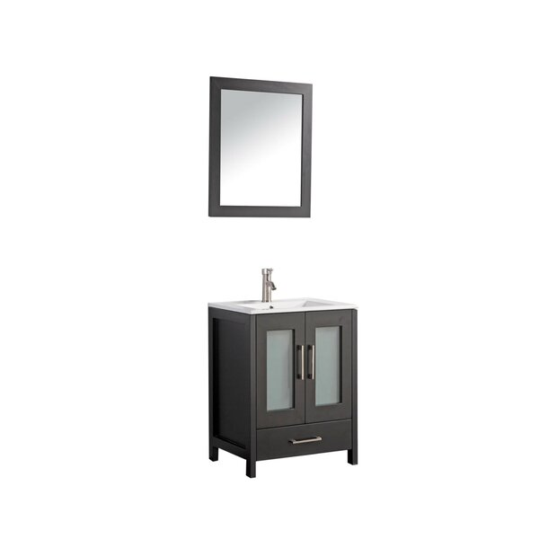Larosa 24 Single Sink Bathroom Vanity Set with Mirror by Latitude Run