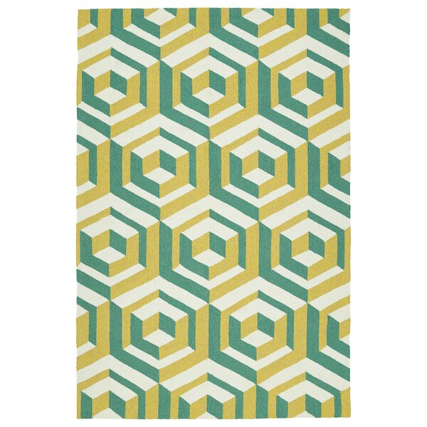 Doylestown Gold/Green Indoor/Outdoor Area Rug by Wrought Studio