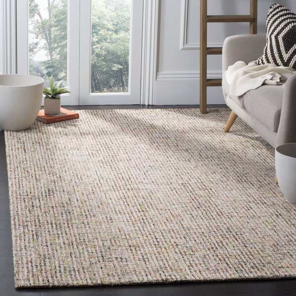 Port St. Joe Hand-Tufted Beige/Rust Area Rug by Beachcrest Home